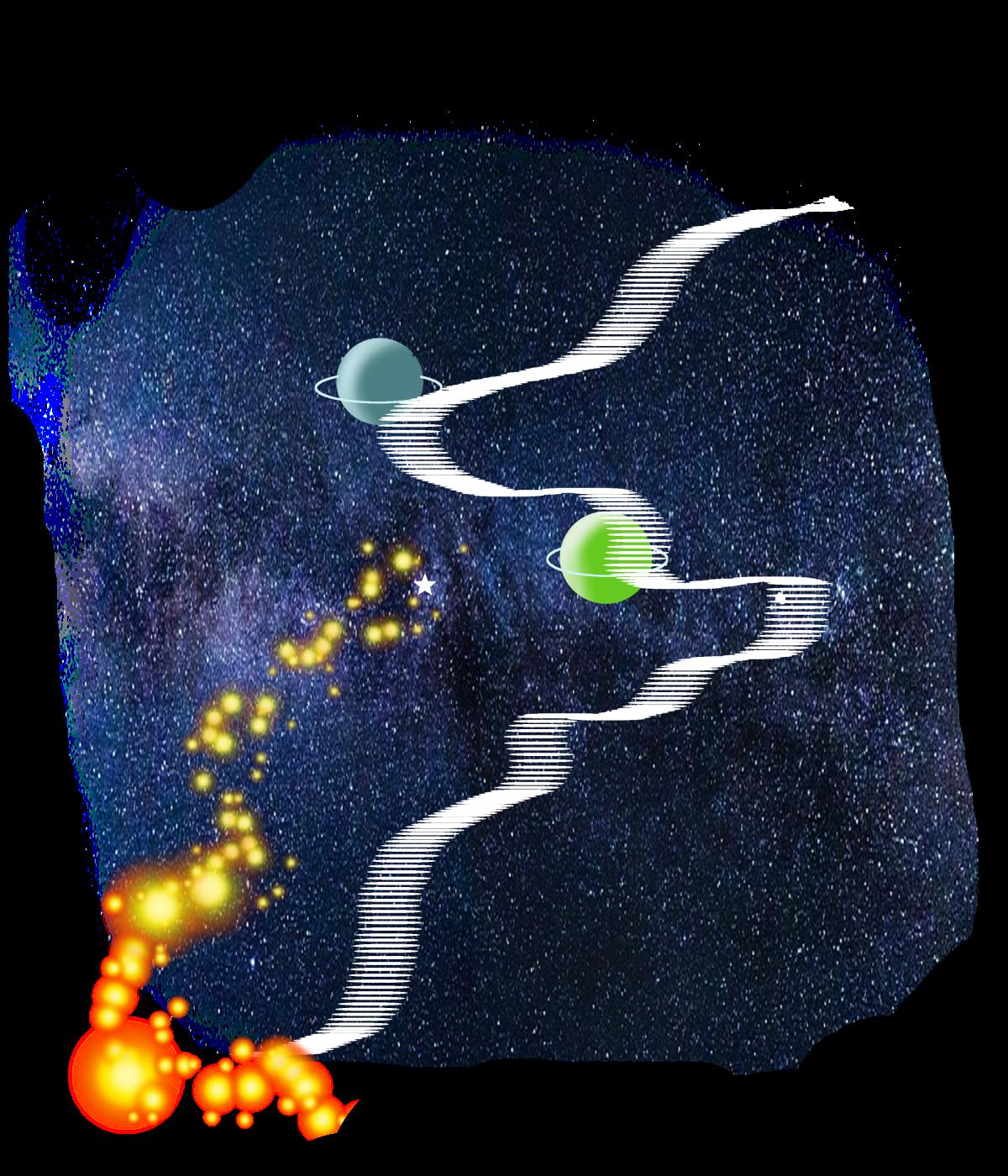 Illustration Milchstraße
